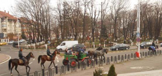 Parada ecvestra organizata cu prilejul Zilei Nationale la Radauti