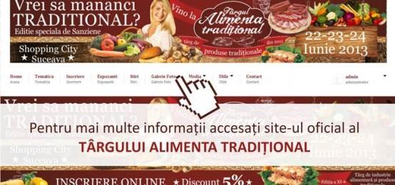 Targului Alimenta Traditional  Editie speciala de Sanziene  22 – 24 iunie 2013