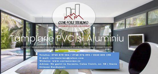 Tamplarie PVC si Aluminiu, usi de garaj, rulouri exterioare; plase insecte gratuite
