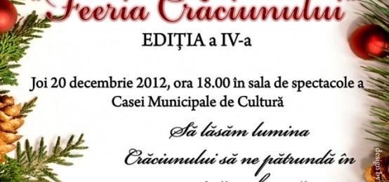 """Joi, 20 decembrie 2012 – Concert De Colinde """"Feeria Craciunului"""""""