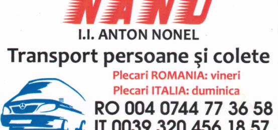 Transport international persoane si colete. Nanu Tour